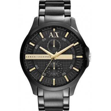 Armani Exchange Black Dial Black PVD Mens Watch AX2121, Watch Central