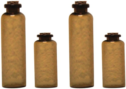 7gypsies 4-Piece Apothecary Bottles, Amber by 7gypsies