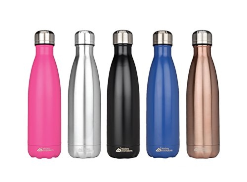 Modern Innovations Stainless Steel Vacuum Insulated Leak Proof Water Bottle | Thermos Keeps Water Cold for 18 hours, Hot for 10 hours | BPA Free Metal Bottle Perfect for Indoor & Outdoor Use - 17 Oz