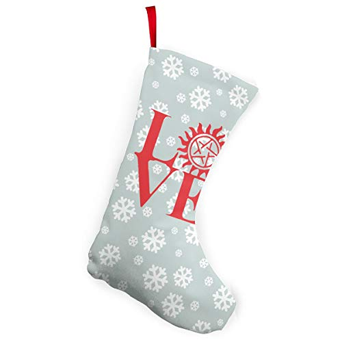 Love Supernatural Christmas Stockings Christmas Xmas Tree Fireplace -
