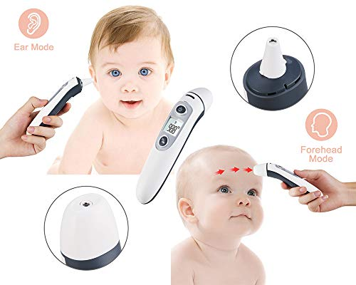 HEALTHGUARDIAN Baby Infant Infrared Digital Forehead Ear Thermometer for Babies and Adults - Accurate Medical Thermometer with Fever Indicator – Professional, Accurate, Reliable, FDA & CE Approved by HEALTH GUARDIAN (Image #2)