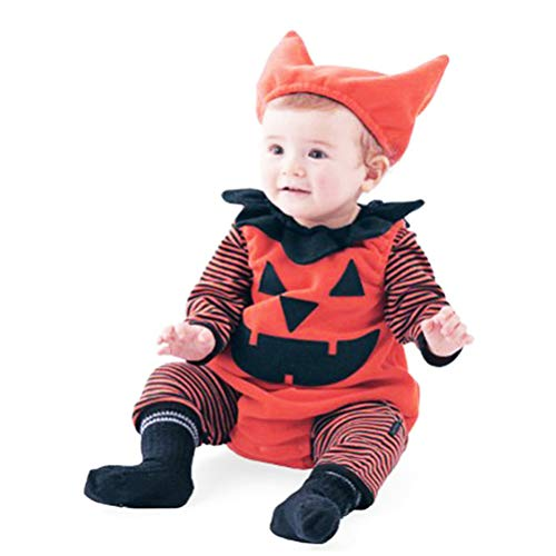 Baby Halloween Clothes Set Bodysuit Pajama Jumpsuit Hat