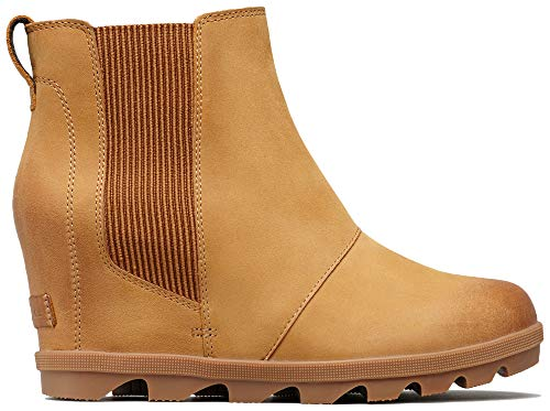 Sorel Women's Joan of Arctic Wedge II Chelsea Boots, Camel Brown 2, 7 M US ()