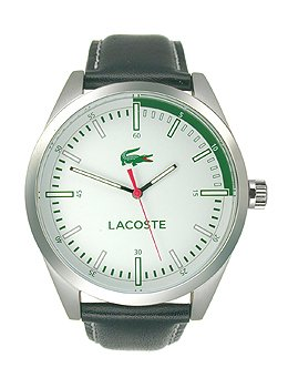 Lacoste Men's Montreal Black Leather Strap Watch 44mm 2010732