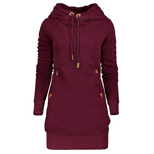 DRESSFO Trendy Ladies Activewear Tunic Dress Hoodie for Women with Pocket Drawstring from DRESSFO
