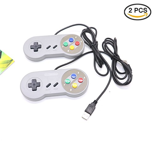 IDS SNES USB Retro Gaming Controller for PC/Mac/RaspberryPi/Arcade,2Pack