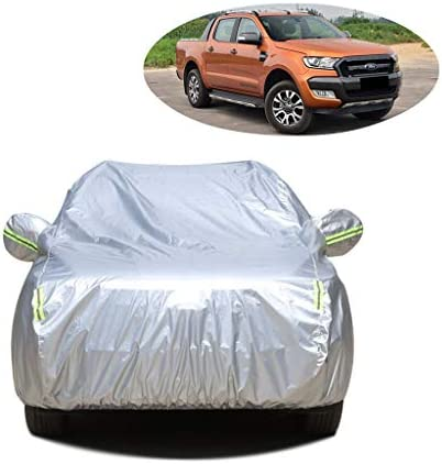 車のカバー フォードレンジャー防水フル・エクステリアカバーと互換性が暖かい防塵に対するスクラッチサンプロテクション屋外モバイルガレージカーカバーをしてください (Color : Silver Oxford)