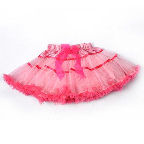 Tulle Dance Tutu Skirt, 3-Layer Fluffy Ballerina For Baby Toddler Girls (5 Size Available For 4 Mon - 10yrs Girls)