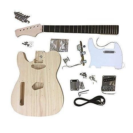 gd6666 Coban Guitars Fresno Cuerpo Guitarra Eléctrica DIY Kit Izquierda Mano Para Estudiante & Luthier proyectos