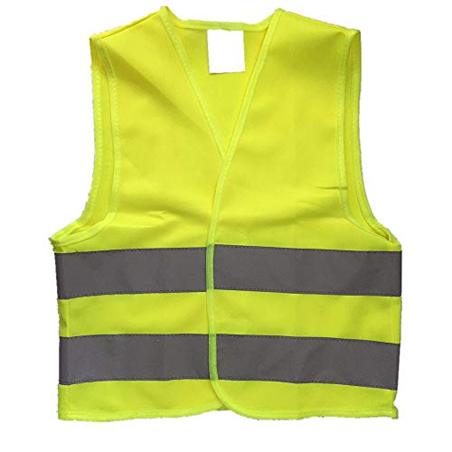 Kids High Visibility Reflective Safety Vest for Costume Running Cycling Size S -
