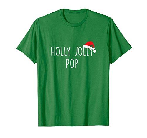 Mens Holly Jolly Pop Shirt, Cute Holiday Christmas Gift XL Kelly (Holly Christmas Gift)