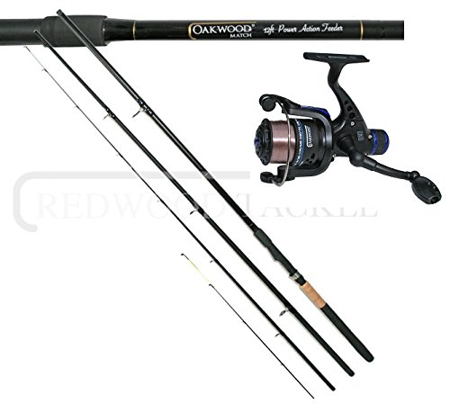 Oakwood Match/Carp Fishing Feeder Rod 12ft & Oakwood R30 Match Reel + Line...