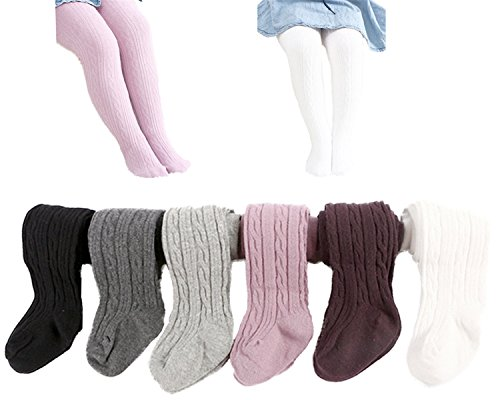 6 Pack of Baby Infant Toddler Kids Girl Legging Pants Tights Stockings 1-2 Years -
