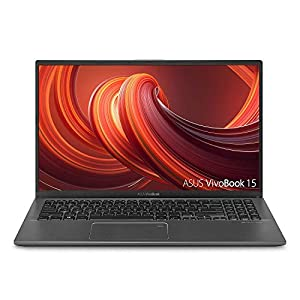 "ASUS VivoBook 15 Thin and Light Laptop, 15.6"" Full HD, AMD Ryzen CPU, DDR4 RAM, SSD, AMD Radeon Vega 8 Graphics,Slate Gray 3"