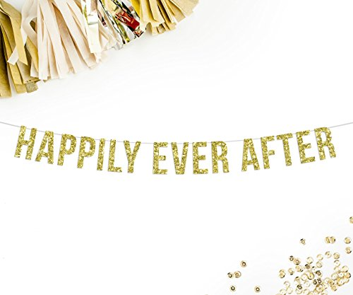 Happily Ever After Wedding Banner | wedding banner | wedding decor | wedding car banner | photo prop | head table |