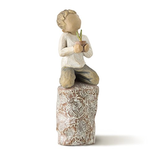Willow Tree hand-painted sculpted figure, something - Tree Plant Willow