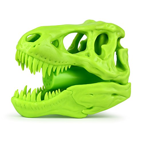 Barbuzzo T-Rex Shower Head, Green - Prehistoric Shower Nozzle Shaped like a Tyrannosaurus Rex Skull - Gives Your Shower-Time a Jurassic Touch - Terrific Gift for Kids & Dino-Enthusiasts - Wash N' Roar by Barbuzzo (Image #2)