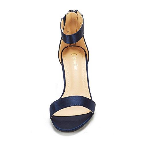Dream Pairs Sandalias De Tacón Fiona Fashion Stilettos Con Punta Abierta Sandalias De Tacón Navy