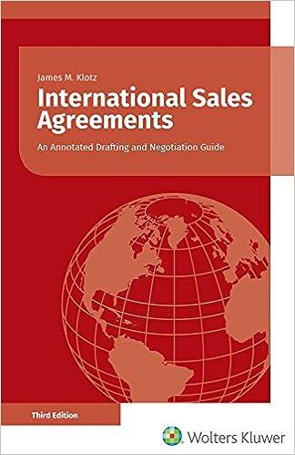 International Sales Agreements: Amazon co uk: James M  Klotz