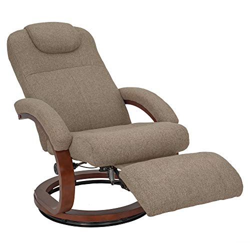 RecPro Charles 28 RV Euro Chair Recliner Modern Design RV Furniture Cloth Oatmeal, 1 Pack