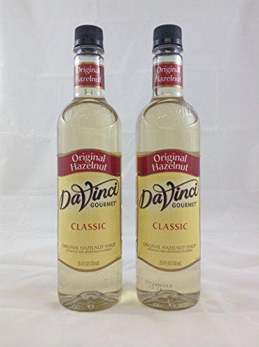 DaVinci Gourmet Original Hazelnut Flavored Syrup 2 Bottles (Da Vinci Hazelnut Syrup)