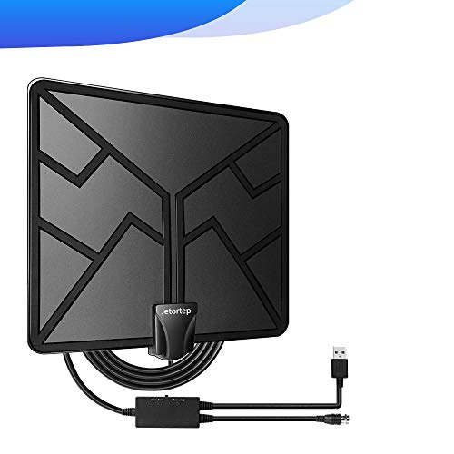 2019 Newest 105 Miles Range HDTV Antenna, TV Antenna Indoor Amplified Digital HD Antenna Free Channels with 4K 1080P High Definition Antenna Signal Booster, Long Coax Cable - High Reception