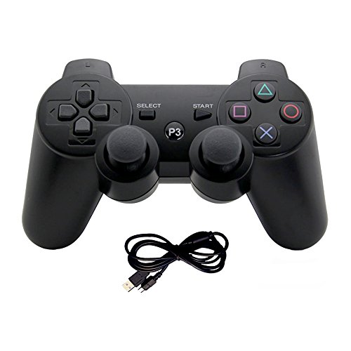 PS3 Controller Wireless Bluetooth Six Axis Controllers Gamepad for PlayStation 3 Dualshock 3 with Charging Cable by Mario Retro