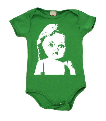Vintage Doll Baby Bodysuit, 6-12 mo, Grass Green (Doll Baby Green Vintage)