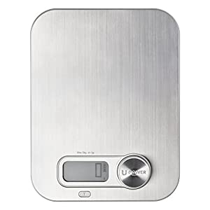 Ellessi Digital Food Scale. BATTERY FREE Digital Kitchen Scale 11lb 5kg. Stainless Steel Food Scale