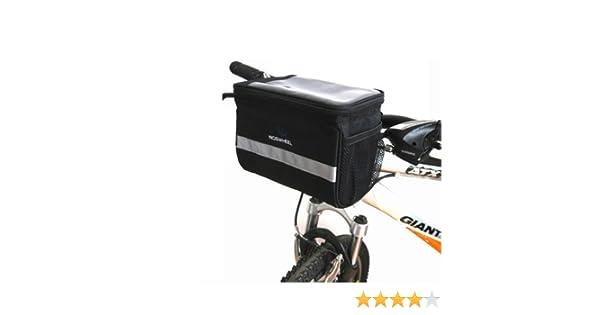 Roswheel Bolsa de Manillar de la Bicicleta Bolsa de la Bicicleta Frontal Extraíble/ del Monedero / de la Tarjeta / Bolsa de la Bici Portaequipajes (Negro , 20x15x12cm): Amazon.es: Zapatos y complementos