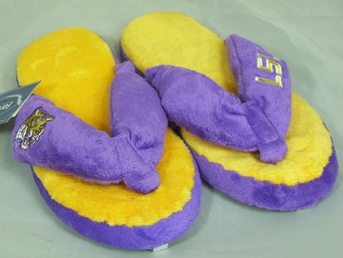 LSU Tigers NCAA Flip Flop Thong Slippers