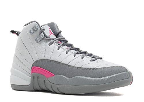 Nike Air Jordan 12 Retro GG WolfGrey/VividPink 510815-029 (SIZE: 3.5Y) by NIKE