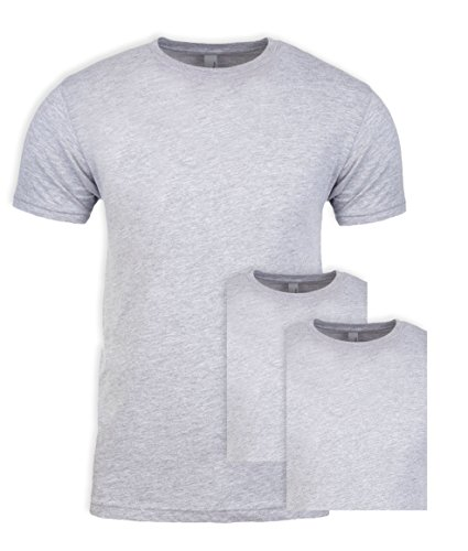 - Next Level NL3600 100% Cotton Premium Fitted Short Sleeve Crew Heather Grey Large (3 Pack)