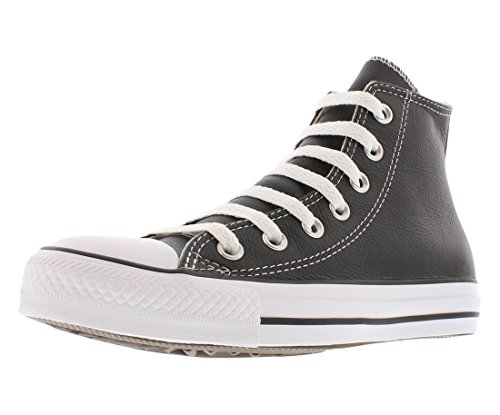 Converse Unisex Chuck Taylor All Star Leather High Top Shoe Black 11 M US]()