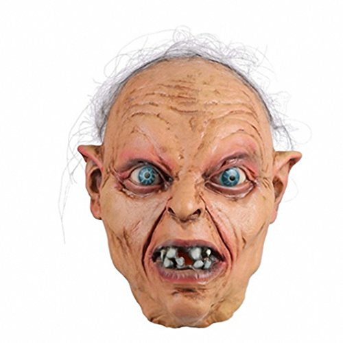 Toy Cosplay Halloween Costume Head Funny Mask Movie Horror Gollum Mask Theater Prop x14027 - Gollum Latex