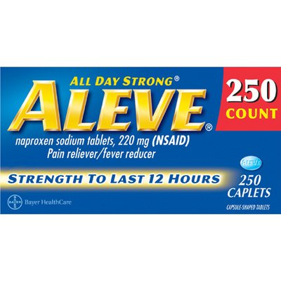 Aleve All Day Strong 220mg Caplets - 250 Count