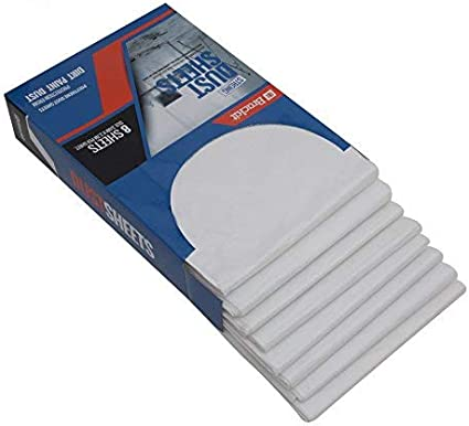 Brackit Kit de Protectores Contra el Polvo, 8 Resistentes Protectores de Muebles de 270x360cm - Ligeros, Duraderos, Anti-Polvo y Resistentes al Agua. Disponibles para Pintura, Decoración y Construcció