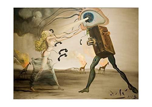 (Spiffing Prints Salvador Dali - Burning Giraffes and a Telephone - Medium - Semi Gloss - Unframed)