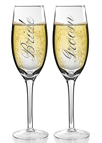 toasting flutes silver wedding champagne glass set wedding glasses