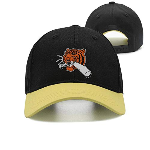 (Detroit_Funny_Tigers Baseball Unisex Vintage All Cotton Baseball Cap Fitted Snapback hat Sport Cap)
