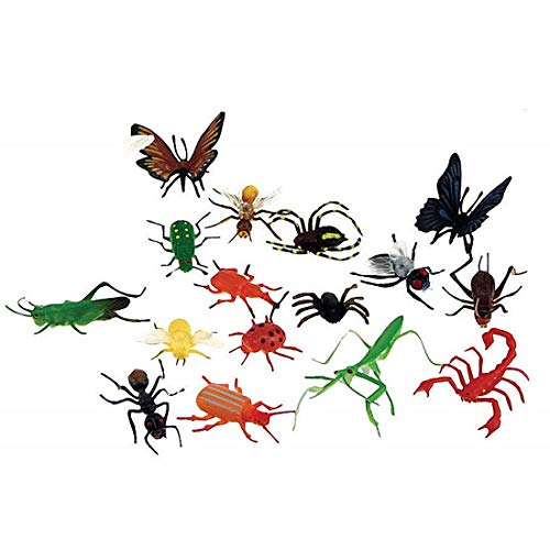 Plastic Bug Toys - 18 Colorful Giant Insect Figures - By Insect Lore ()