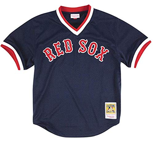 Mitchell & Ness Ted Williams Boston Red Sox Men's 1990 Batting Practice Jersey ()