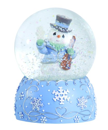 Precious Moments Annual Snowman With Violin Waterball