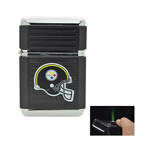 - NFL Official License Windproof Refillable Butane Torch Lighter Tin Gift Box (Pittsburgh Steelers)