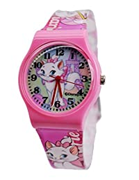 """Disney Marie The Cat Watch For Children .Large Analog Dial. 9""""L Watch Band."""
