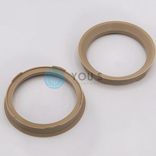 2 x anelli di centraggio ANELLO DISTANZIALE PER CERCHI IN ALLUMIO fz73 67,0 - 56,6 mm CMS, DBV, Proline Ruote, Schmidt Revolution You.S