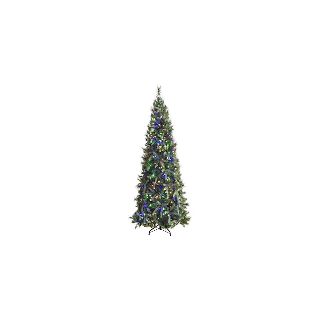 Morning-Star-9-Foot-Christmas-Tree-Fir-Tree-with-1000-LED-Lights-3774-Tips-Easy-Assembly
