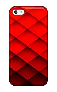 Heidiy Wattsiez's Shop 2633228K84380063 Tpu Case Cover Compatible For ipod touch5/ Hot Case/ Abstract Red
