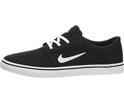 Nike Mens SB Portmore Cnvs Black/White Skate Shoe 10 Men US