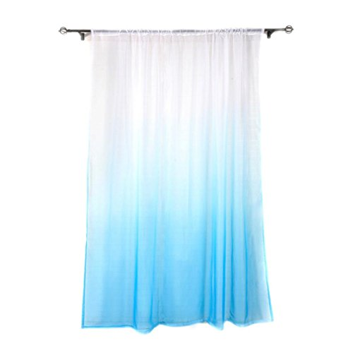 Fheaven 1 Panel Fabric Gradient Sheer Curtain Tulle Window Treatment Voile Drape Valance Curtain For Home Decoration  Measure Size 200Cm X 100Cm  H